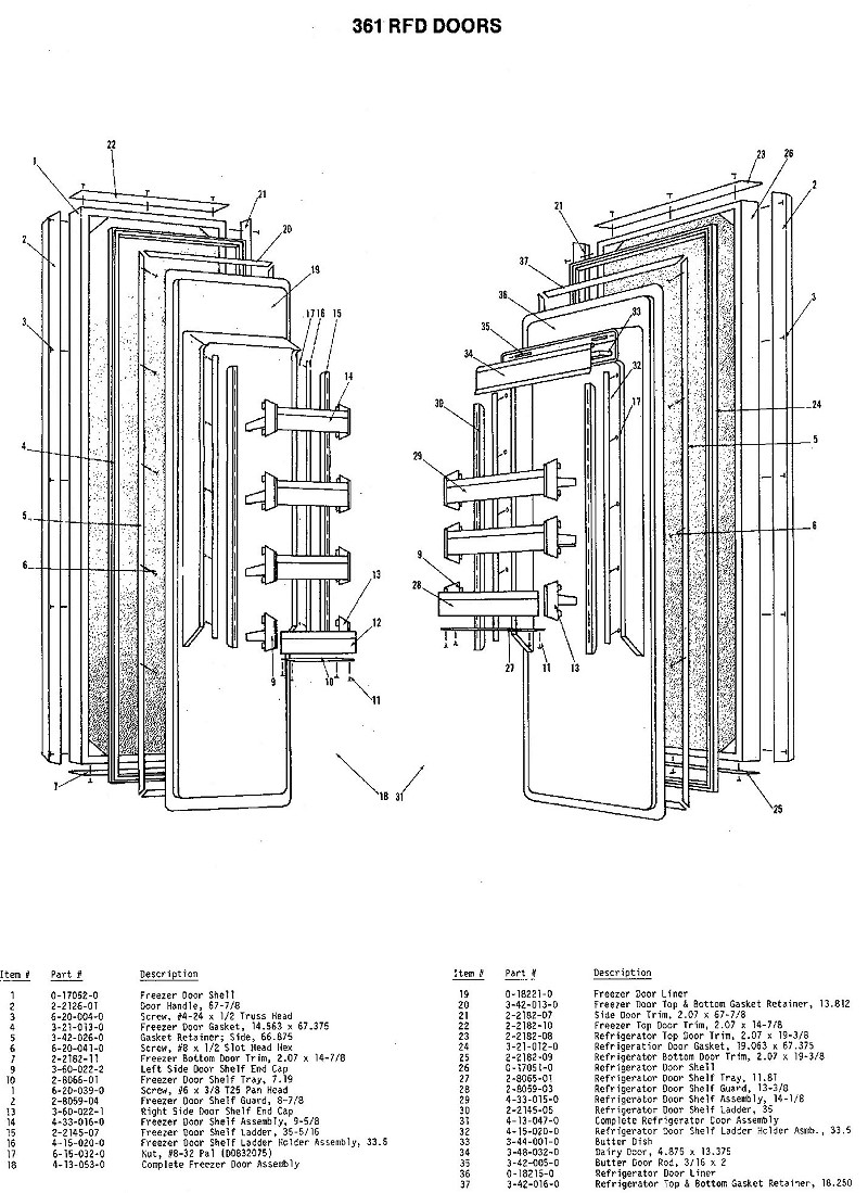 Sub-Zero Parts Refrigerator Part Replacements - SubZero ...